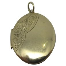 English 9k Gold Double Pendant Locket Vintage 1968.
