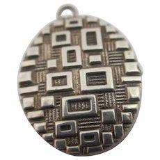 Sterling Silver Double Pendant Locket Vintage c1970.
