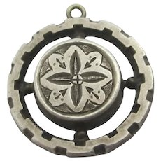 Sterling Silver Pendant Antique Victorian c1880.