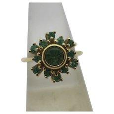 Emerald in 18k Gold Ring Vintage c1980.