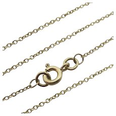 "9k Gold Chain Necklace 41.0cm / 16.1"" Vintage English c1980."