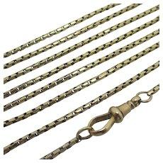 """Long Guard 15k Gold Chain Necklace 131.2cm / 51.6"""" Antique Victorian c1860."""