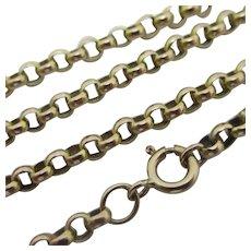 """9k Gold Chain Necklace 43.5cm / 17.1"""" Antique Victorian c1880."""