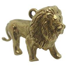 Lion Big Cat 9k Gold Pendant Charm Vintage 1963 Georg Jensen.