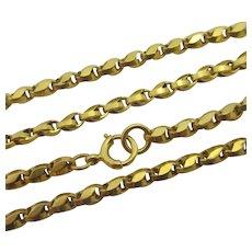 """9k Gold Chain Necklace 42.8cm / 16.8"""" Antique Victorian c1890."""