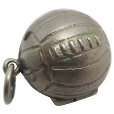 Goalpost Keeper Football Sterling Silver Pendant Charm Vintage c1960.