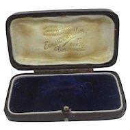 Burgandy Leatherette Brooch Pin Jewellery Box Antique Victorian c1900.