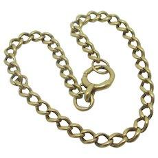 18k Gold Curb Link Chain Charm Bracelet Antique Victorian 1890