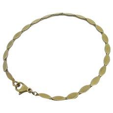 9k Gold Bracelet Vintage English 1986