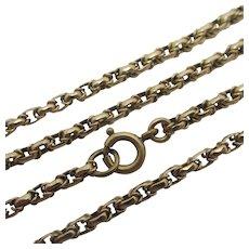 """9k Gold Chain Necklace 47.6cm / 18.7"""" Antique Victorian c1890."""