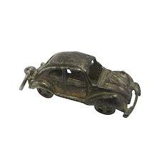 VW Beetle Motor Car Sterling Silver Pendant Charm Vintage c1960.