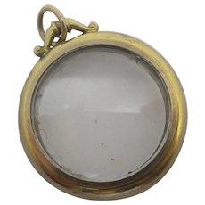 15k Gold Double Pendant Locket Antique Victorian c1890