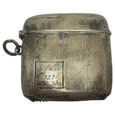 Chester Hallmark Sterling Silver Vesta Match Case Antique 1911 Edwardian