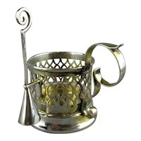 Sterling Silver Candle Holder & Snuffer London Antique c1900