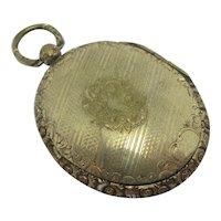 9k Gold Back Front Pendant Locket Antique Victorian c1860