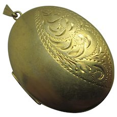 9k Rolled Gold Double Pendant Locket Vintage c1970