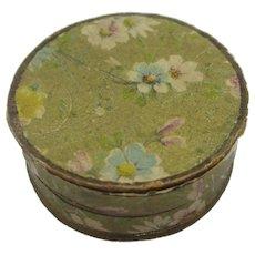 Flowers to Swiss Cardboard Jewellery Box Antique Edwardian c1910