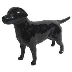 Black Lab Labrador Dog Figure by Beswick Vintage