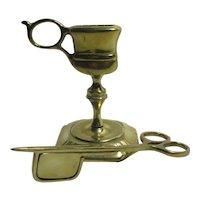 Brass Candle Snuffer & Stand Antique Georgian c1820