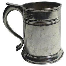 English Sterling Silver Tankard Mug Vintage Art Deco 1931