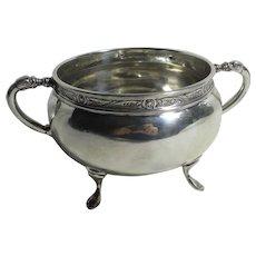 Celtic Detailing English Sterling Silver Sugar Bowl Vintage Art Deco 1926