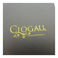 Clogau Gold of Royalty Cardboard Earring Pendant Jewellery Box Vintage c1980