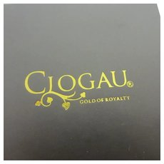 Clogau Gold of Royalty Cardboard Earring Pendant Jewellery Box Vintage c1980