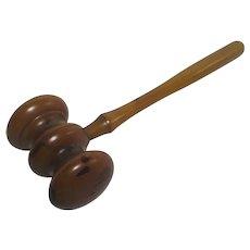 Boxwood Auctioneer Hammer Antique Victorian c1890