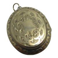 9k Gold Double Pendant Locket Antique Victorian c1880