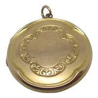 Chester 9k Gold English Double Locket Pendant Antique Edwardian 1913