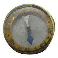 Bevelled Glass Compass 9k Gold Rim Frame Antique Victorian c1890
