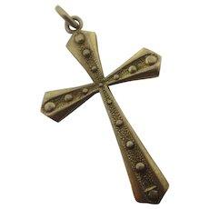 9k Gold Cross Pendant English Vintage 1963