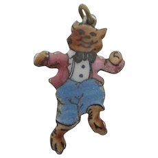 Piggy from 3 Little Pig Fairy Tale Pendant Charm Vintage c1950