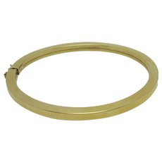 Plain 18k Gold Bangle Bracelet Vintage c1980