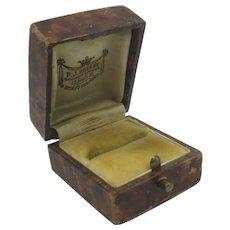 Faux Walnut Ring Jewellery Box by F.J. Zelley Bishops Stortford Vintage Art Deco