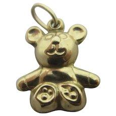 Teddy Bear 9k Gold Pendant Charm Vintage c1970