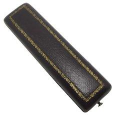 Moroccan Leather Stick Pin Brooch Jewellery Box Vintage Art Deco c1920