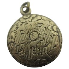 Mourning Hair Jewellery Rose 9k Gold Locket Pendant Antique Victorian c1860