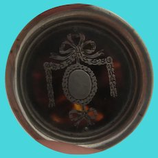 Swag & Bow Pique Sterling Silver Pin Dish Antique Edwardian c1910