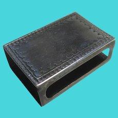 English Sterling Silver Match Box Case Vintage Art Deco 1930
