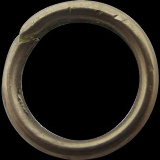 9k Gold Split Ring Findings 1.4cm Diameter Antique Victorian c1840