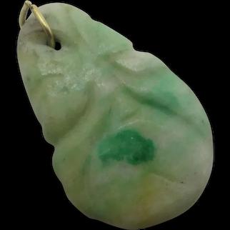 Carved Chinese Jade Fruit Pendant Vintage c1920