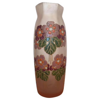 Legras Enamel Vase
