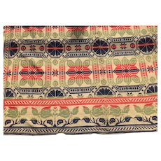 tri color Jacquard coverlet 1850