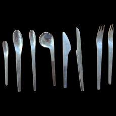 Arne Jacobsen designed  Flatware Set by Michelson