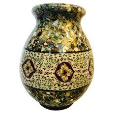 Jean Gerbino Vallauris mosaic pottery vase