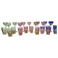 Moser Lady Hamilton Wines and Water Glasses