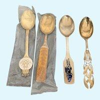 4 A. Michelsen Sterling Silver presentation spoons
