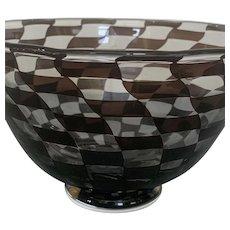 Orrefors Graal Anne Nilsson 1984 checkerboard