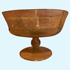 Large Venetian Soffiato hand blown Compote bowl